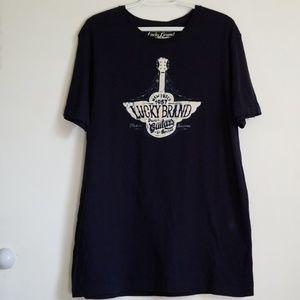 Lucky Brand Navy Guitars Tennessee Shirt